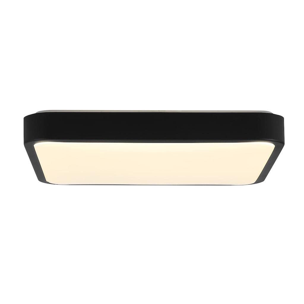 Brilliant Leuchten Slimline LED Wand- und Deckenleuchte 38x38cm schwarz