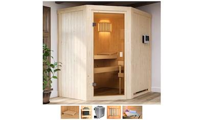 Karibu Sauna »Fedder«, 4,5-kW-Bio-Ofen mit ext. Steuerung kaufen