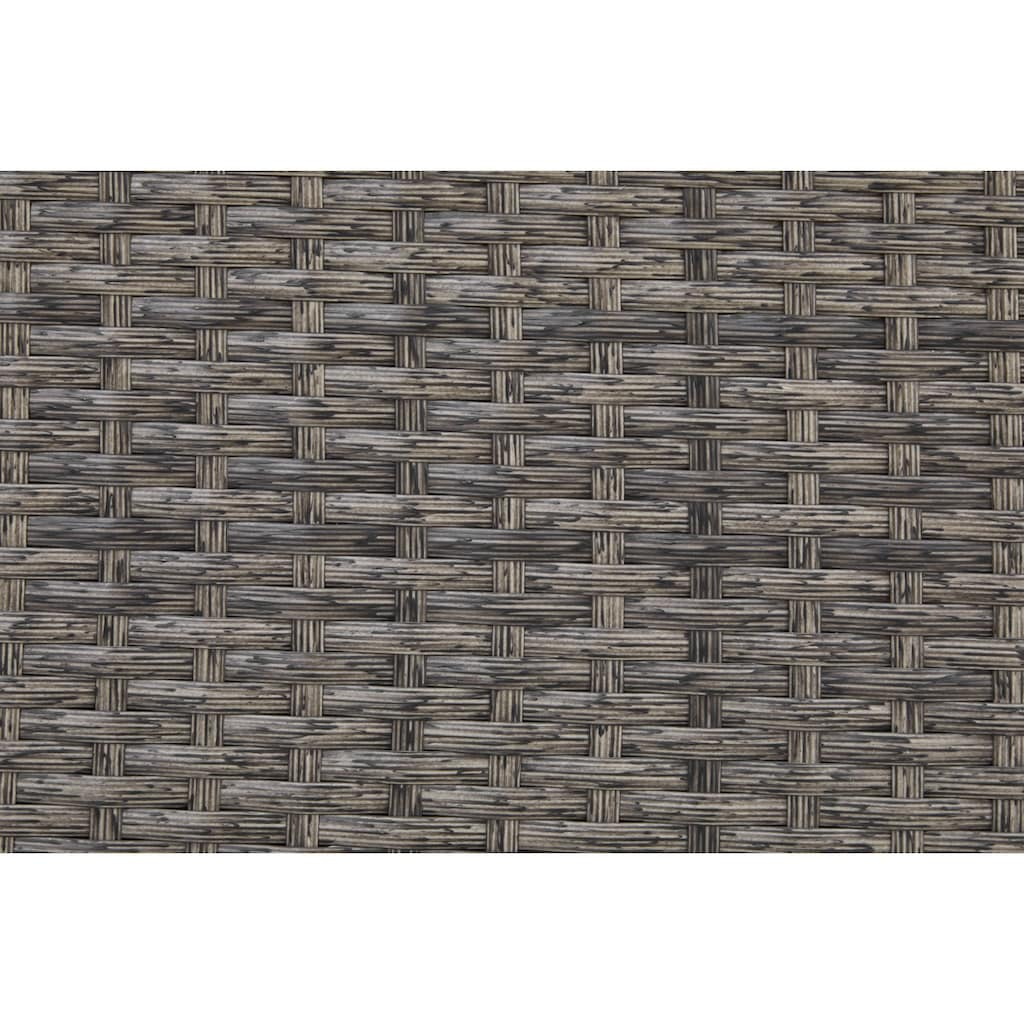 KONIFERA Loungeset »Keros«, (13 tlg.), Ecksofa, Tisch 64x64 cm, Polyrattan