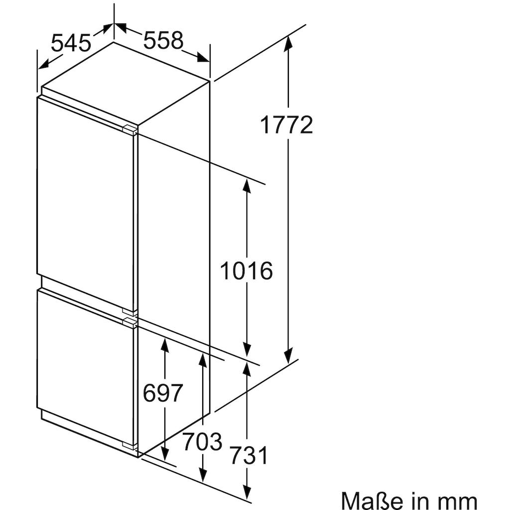 SIEMENS Einbaukühlgefrierkombination, 177,2 cm hoch