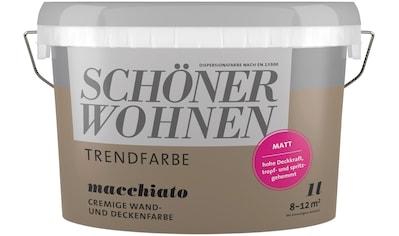 SCHÖNER WOHNEN-Kollektion Wand- und Deckenfarbe »Trendfarbe«, macchiato, 1 l kaufen
