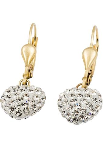 Firetti Paar Ohrhänger »Herz«, mit Kristallsteinen kaufen