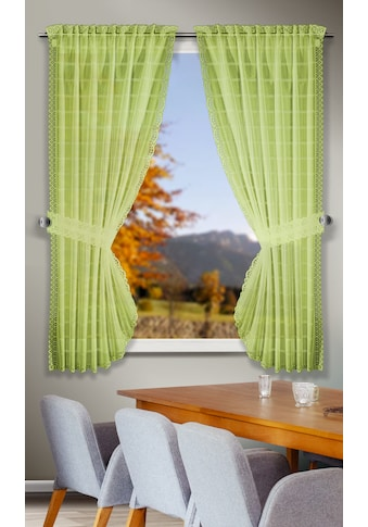 WILLKOMMEN ZUHAUSE by ALBANI GROUP Scheibengardine »Tirol«, Landhaus-Garnitur kaufen