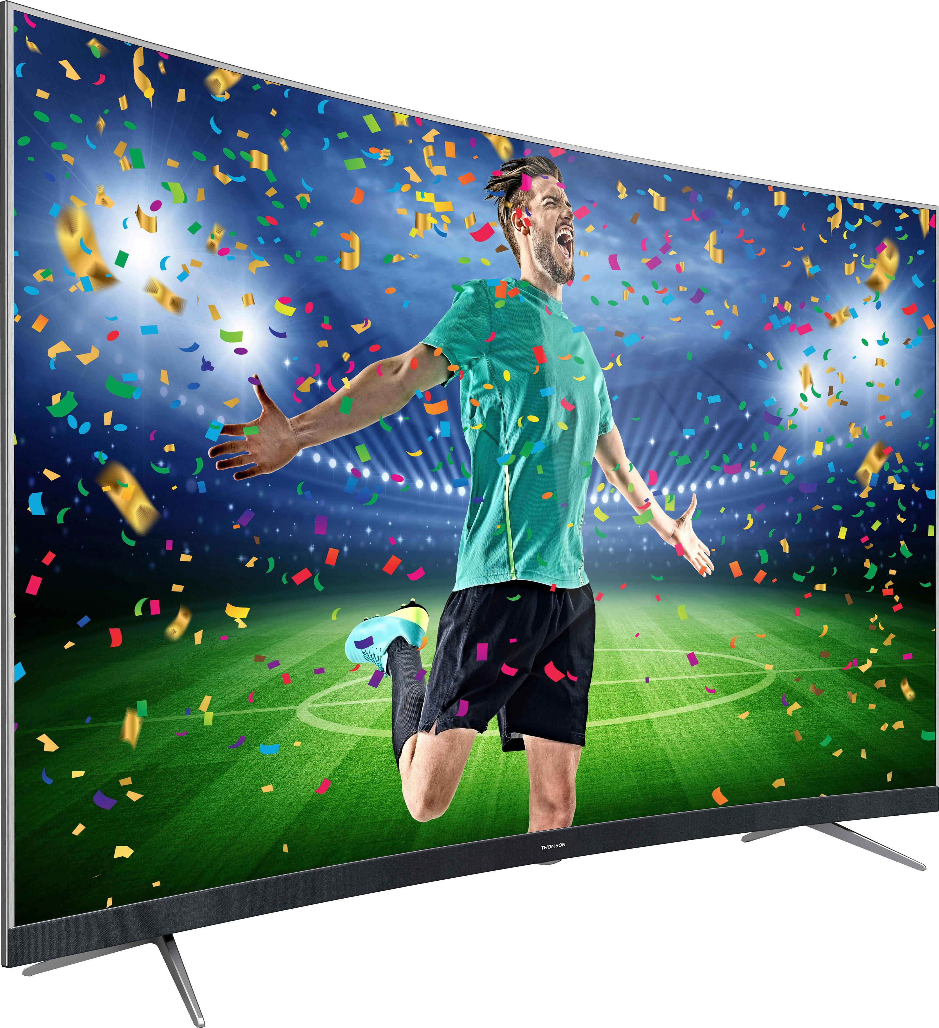 Thomson 55ud6696 Curved Led Fernseher 139 Cm 55 Zoll 4k Ultra Hd Smart Tv