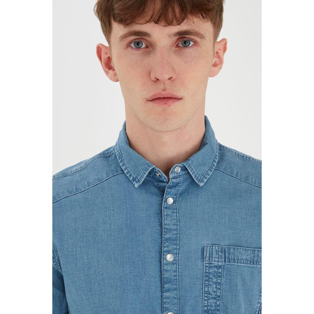 Blend Kurzarmhemd »Blend Kurzarm Hemd in Jeansoptik«, Kurzarm Hemd in Jeansoptik