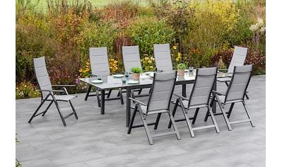 MERXX Gartenmöbelset »Florenz«, (9 tlg.), 8 Klappsessel, ausziehbarem Tisch kaufen