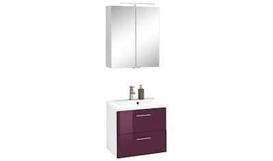 HELD MÖBEL Badmöbel-Set »Venedig«, (2 St.), Spiegelschrank und Waschplatz kaufen