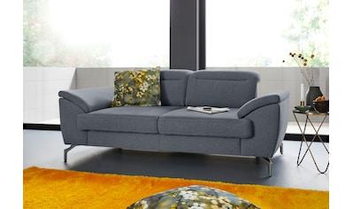 sit&more 2-Sitzer, 15 cm Fußhöhe, inklusive Sitztiefenverstellung, wahlweise... kaufen