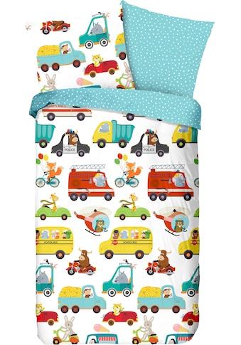 good morning Kinderbettwäsche »Traffic«, mit Autos kaufen