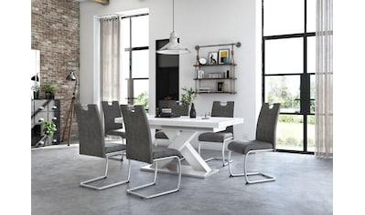 Esstisch »Komfort C«, mit X-Gestell in weiß und mit Auszugsfunktion, Breite 180-280 cm kaufen