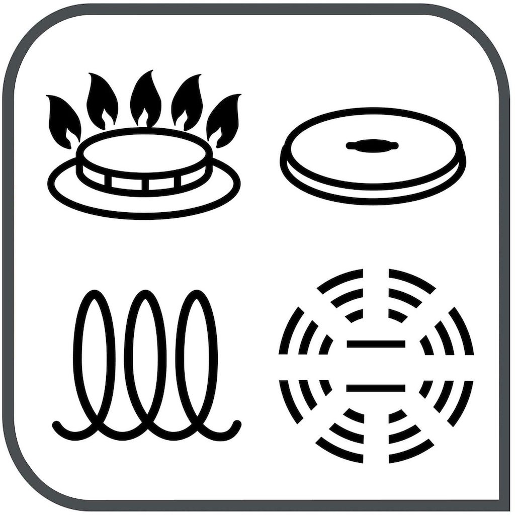 Tefal Topf-Set »Ingenio Preference«, Edelstahl, (Set, 4 tlg.), L94195, Ø 16/18/20 cm + abnehmbarer Griff, induktionsgeeignet, für alle Herdarten, Edelstahl