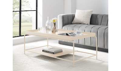 COUCH♥ Couchtisch »Standhaft«, Ablageboden, Gestell und Tischplatte aus Metall kaufen