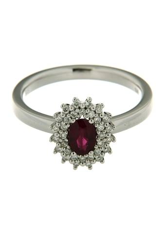 Orolino Diamantring »585/- Weißgold Brillant und Rubin«, rhodiniert kaufen