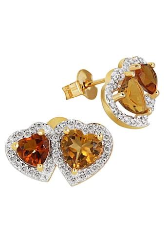 goldmaid Paar Ohrstecker 585/- Gelbgold 2 Citrin 76 Brill. 0,40 ct. kaufen