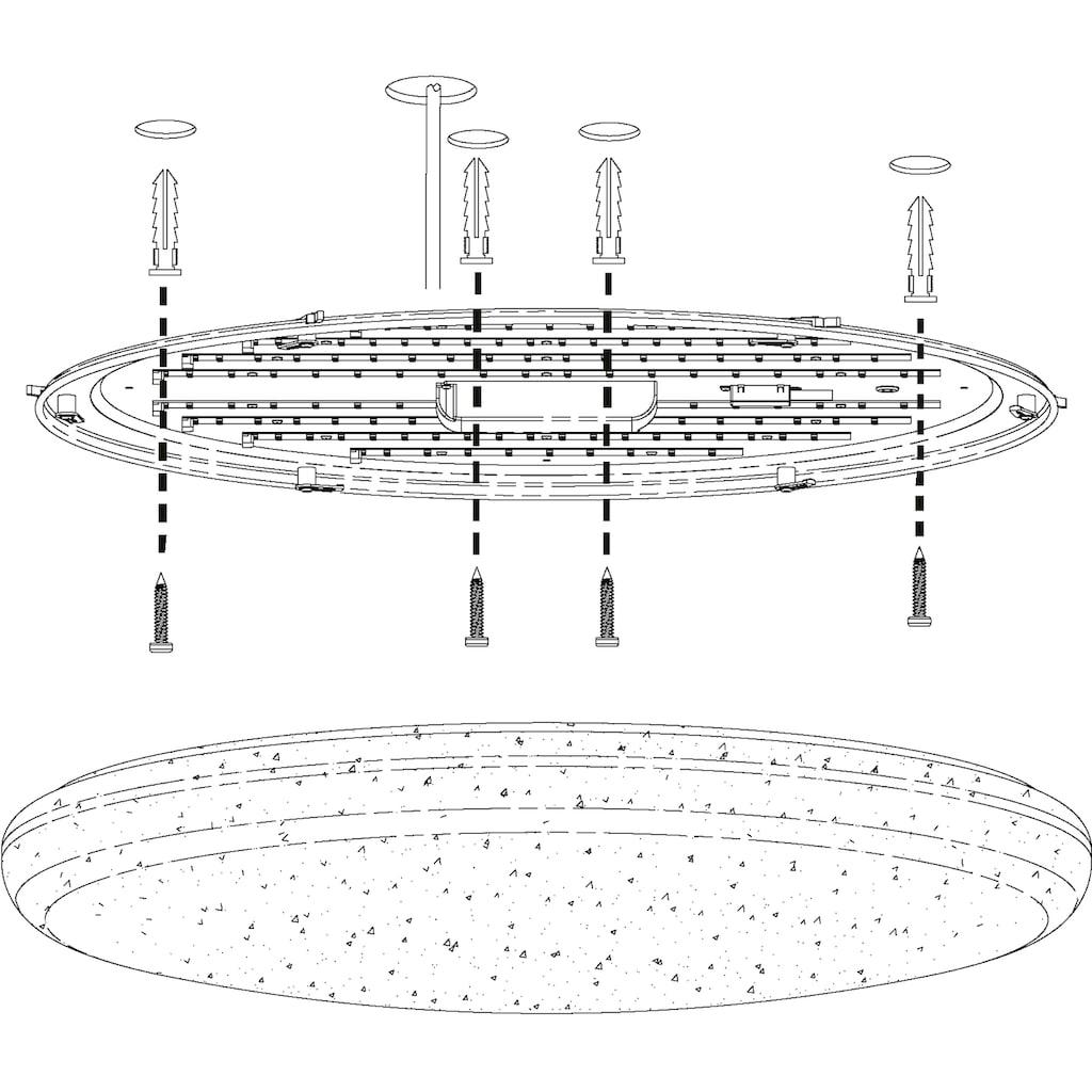 EGLO Deckenleuchte »TOTARI-C«, LED-Board, Warmweiß-Tageslichtweiß-Neutralweiß-Kaltweiß, EGLO CONNECT, Steuerung über APP + Fernbedienung, BLE, CCT, RGB