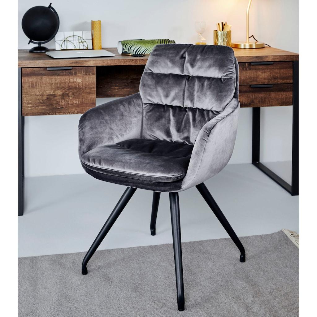 Jahnke Schalenstuhl »CHELSEA TWISTLOCK ESSZIMMERSTUHL«, Drehbar mit TwistLock - Stuhl dreht sich automatisch in Ausgangsposition zurück
