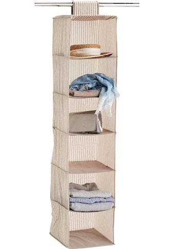 Zeller Present Allzweckkorb »Stripes«, 6 Fächer, Vlies, beige kaufen