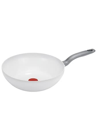 Tefal Wok »CeramicControl White«, Leichtmetall, (1 tlg.), Induktion kaufen