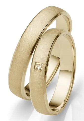 Firetti Trauring mit Gravur »glanz, quer gebürstet, Diamantschnitt, 4,0 mm breit«,... kaufen