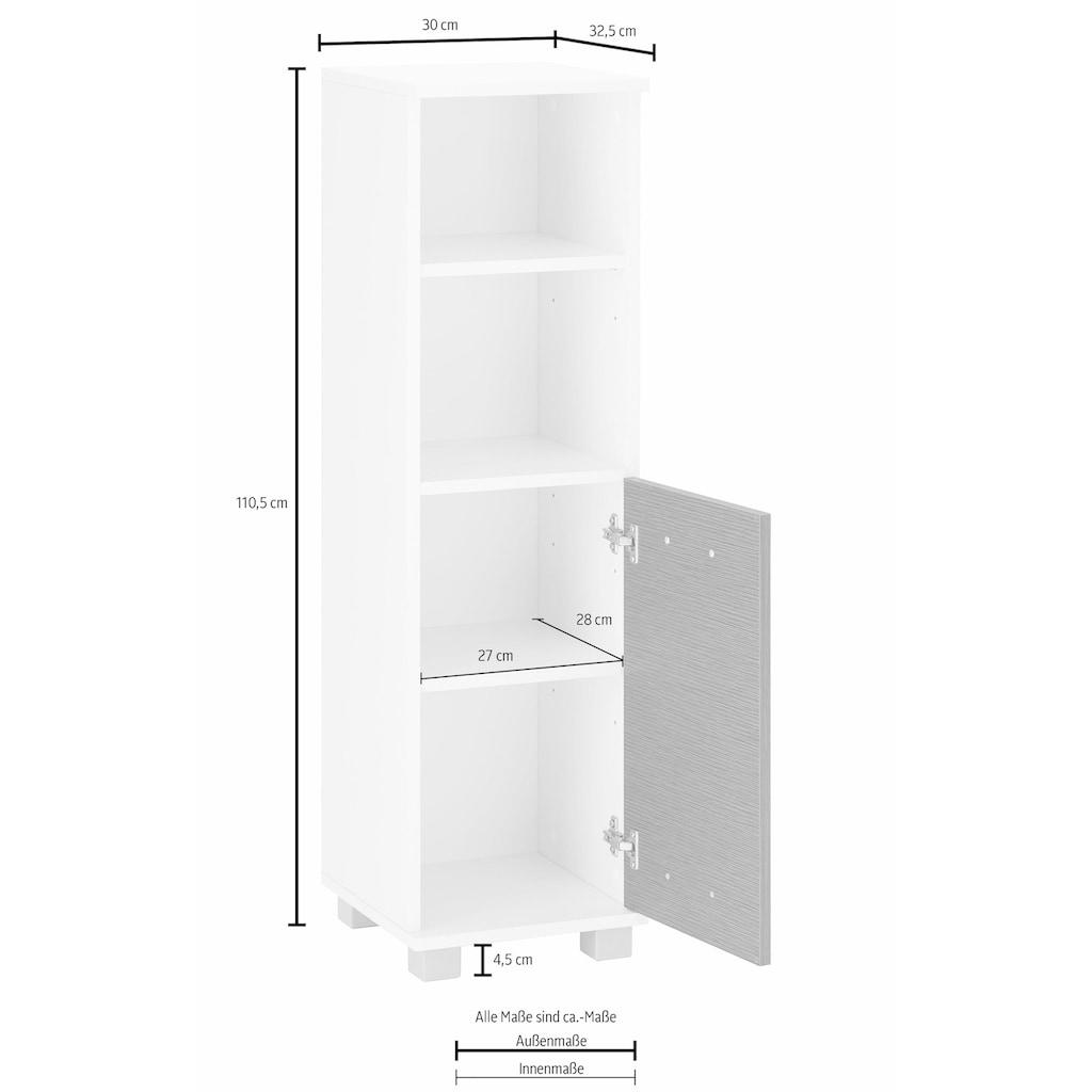 Schildmeyer Midischrank »Palermo«, Breite 30 cm, verstellbarer Einlegeboden, wechselbarer Türanschlag, Metallgriff