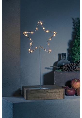 KONSTSMIDE LED Stern, LED-Modul, 1 St., LED Metallstern mit Metall-Fuß, silberfarben... kaufen