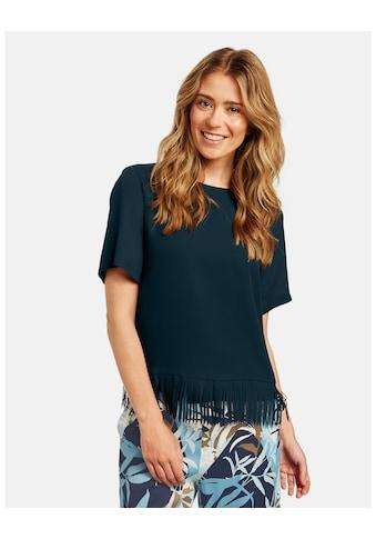 GERRY WEBER Bluse 3/4 Arm »Blusenshirt mit Fransensaum« kaufen