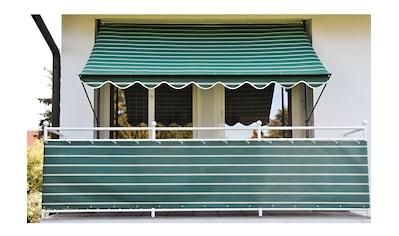 Angerer Freizeitmöbel Balkonsichtschutz, Meterware, grün/weiß, H: 90 cm kaufen