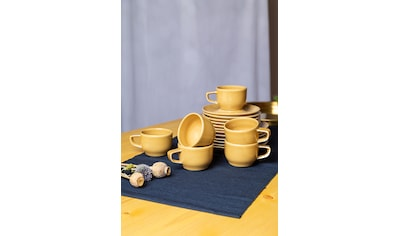 Eschenbach Kaffeeservice »Kaleido«, (Set, 18 tlg.), von Hand aufgebrachte Farbglasur,... kaufen