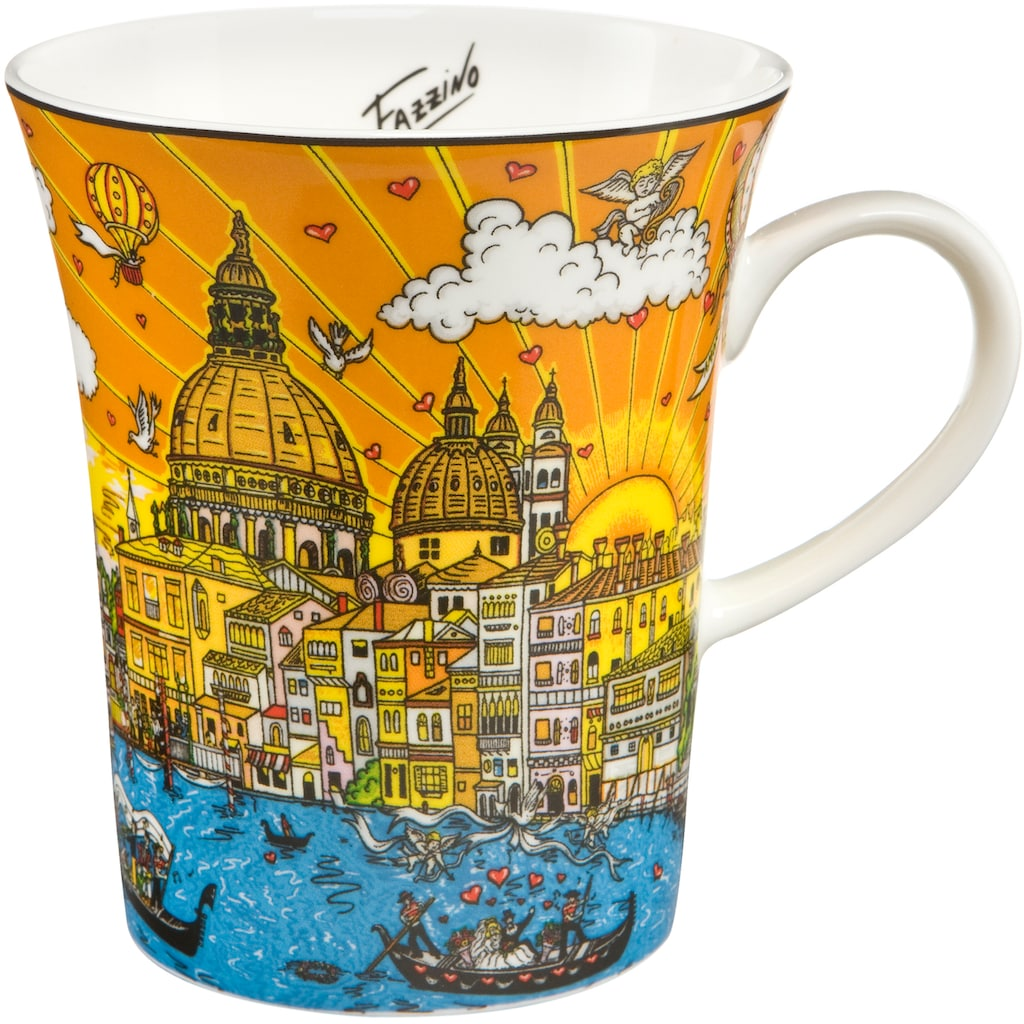 Goebel Becher »Carnevale Veneziana«, von Charles Fazzino