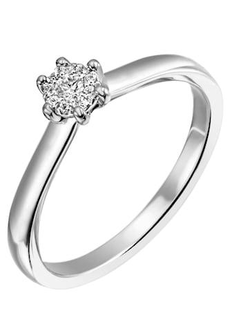 Firetti Diamantring »Verlobung, ca. 2,40 mm breit, mit Krappenfsassung, glänzend,... kaufen