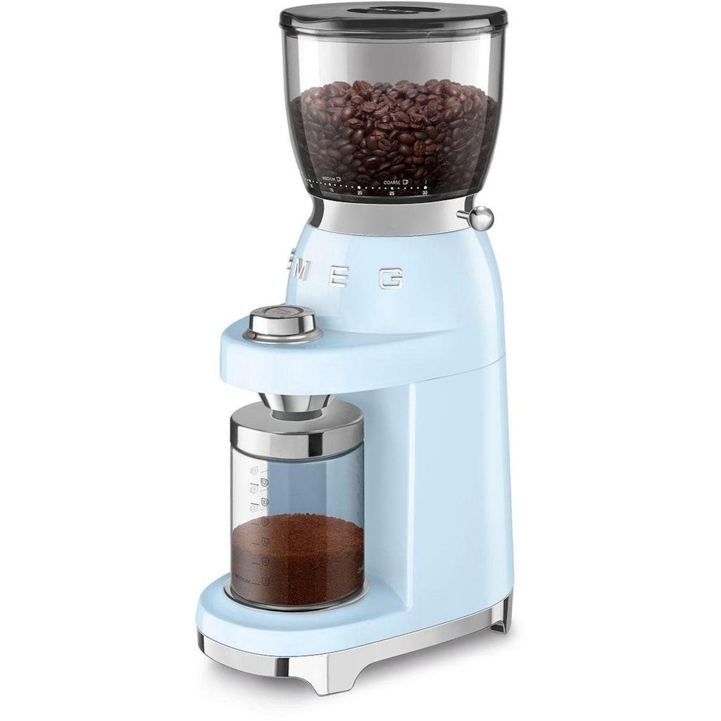 Smeg Kaffeemühle »CGF01PBEU«, 150 W, Kegelmahlwerk, 350 g Bohnenbehälter