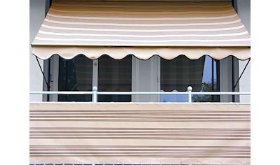 Angerer Freizeitmöbel Balkonsichtschutz, Meterware, beige/braun, H: 75 cm kaufen
