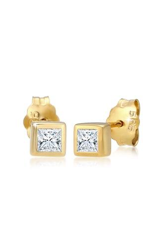 Diamore Paar Ohrstecker »Prinzessschliff Diamant (0.2 ct.) 585er Gelbgold« kaufen