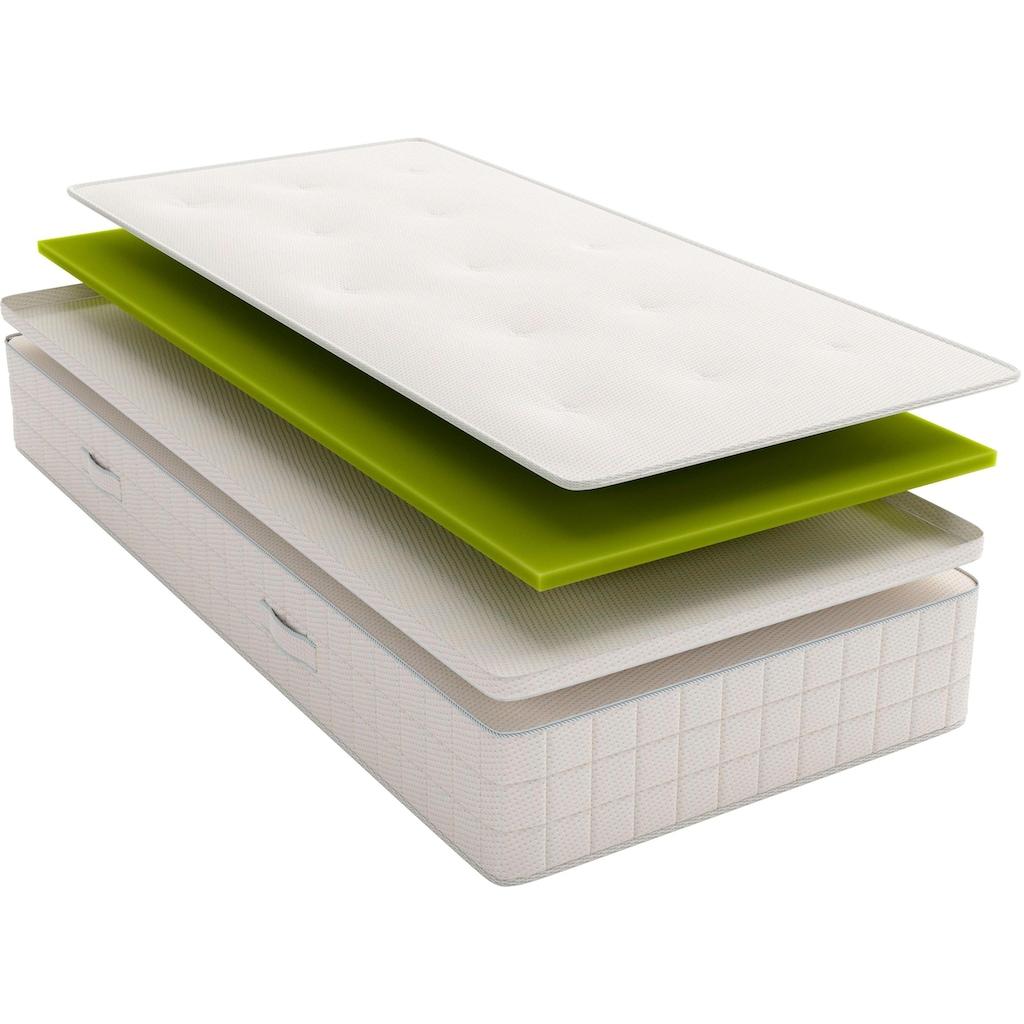 Schlaraffia Boxspringmatratze »Air Boxspring mit Topper«, 33 cm cm hoch, Raumgewicht: 43 kg/m³, 882 Federn, (1 St.), mit abnehmbaren Topper