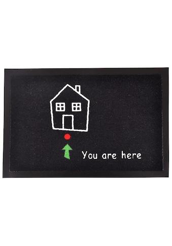 HANSE Home Fußmatte »Standort«, rechteckig, 7 mm Höhe, Fussabstreifer, Fussabtreter, Schmutzfangläufer, Schmutzfangmatte, Schmutzfangteppich, Schmutzmatte, Türmatte, Türvorleger, mit Spruch kaufen