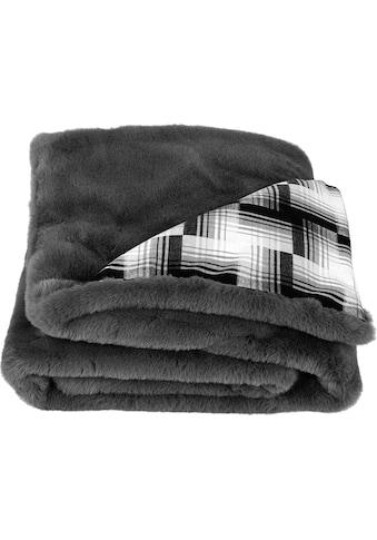Star Home Textil Wohndecke »Amala«, mit weichem Karomuster kaufen