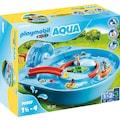 Playmobil® Konstruktions-Spielset »Fröhliche Wasserbahn (70267), Playmobil 123 - Aqua«, ; Made in Germany
