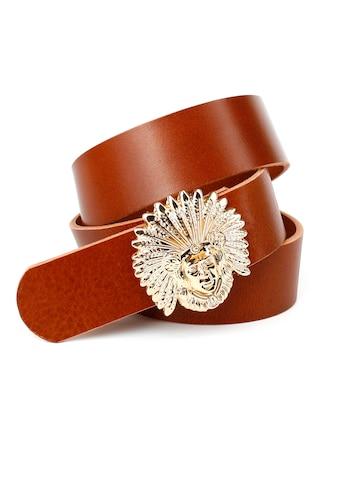 Anthoni Crown Ledergürtel, genarbt, mit glänzender Schließe kaufen