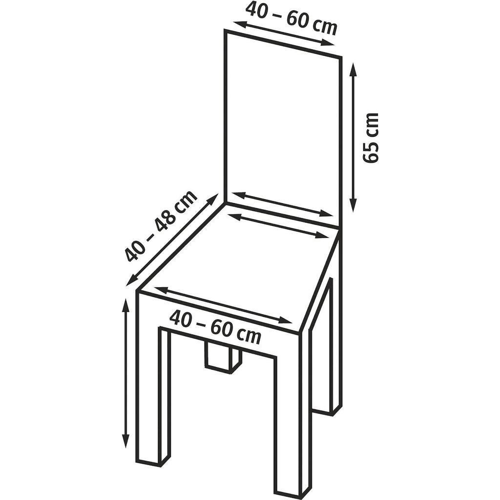 sofaskins Stuhlhusse »Rustica«, mit leichtem Struktur-Effekt (2 Stück)