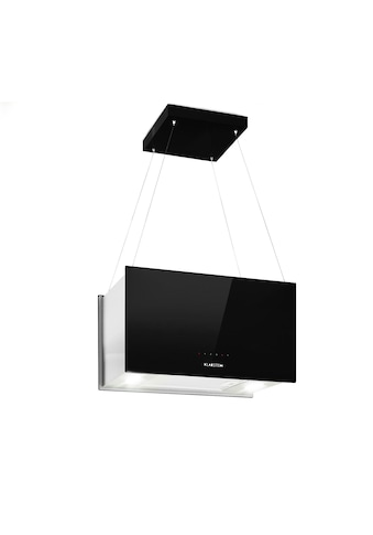 Klarstein Inselabzugshaube 60cm Abluft: 590m³/h LED Touch Glas schwarz »Kronleuchter L« kaufen