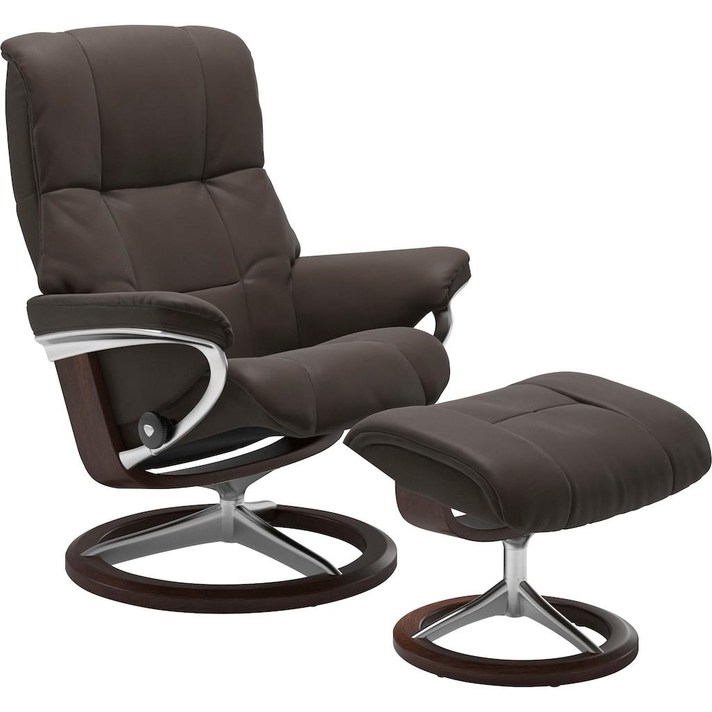 Stressless® Relaxsessel »Mayfair«, mit Hocker, mit Signature Base, Größe S, M & L, Gestell Braun