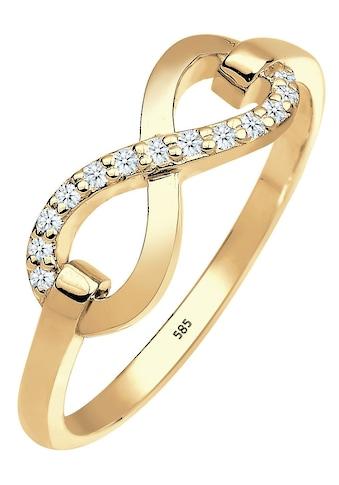 Elli DIAMONDS Diamantring »Infinity - Unendlichkeitsschleife, 0603822714«, mit... kaufen