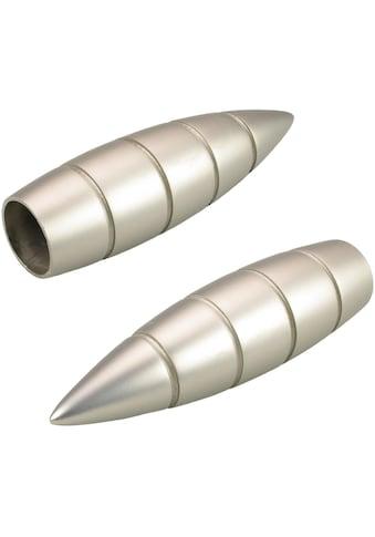 Liedeco Gardinenstangen-Endstück »Bullet mit Rille«, für Gardinenstangen Ø 16 mm kaufen