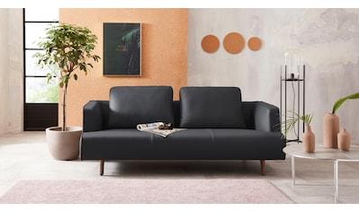 hülsta sofa 3,5-Sitzer »hs.440«, wahlweise in Stoff oder Leder, Fuß Nussbaum kaufen