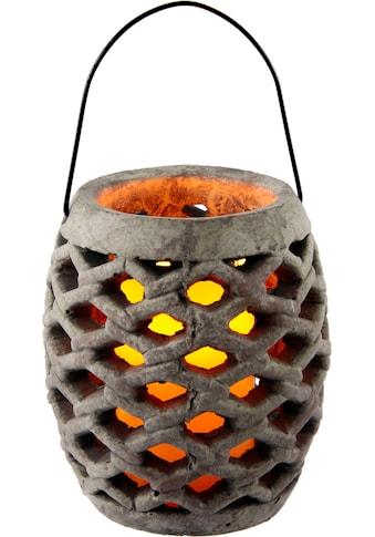I.GE.A. LED-Leuchte »Keramik Windlicht mit LED«, Maße (H): 17 cm kaufen