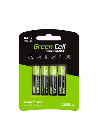 Green Cell Batterie »4x Akkumulator AA HR6 2600mAh«, Akkus Batterien,... kaufen