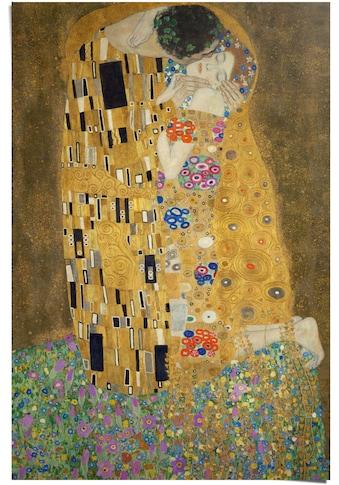 Reinders! Poster »Poster Der Kuss Gustav Klimt«, Kunst, (1 St.) kaufen