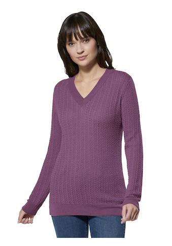Creation L Merino - Kaschmir - Pullover mit eingestricktem Zopfmuster kaufen