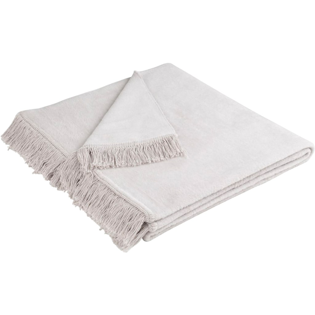 BIEDERLACK Sesselschoner »Cotton Cover«, mit Fransen