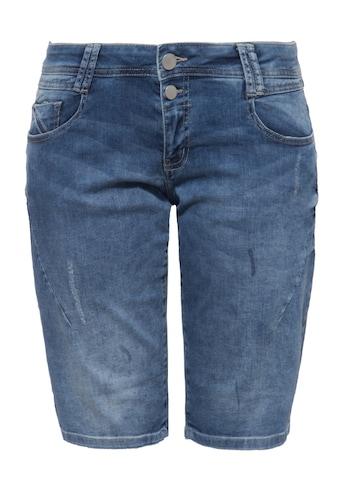Way of Glory Jeansshorts, mit Waschungen und Strass-Detail kaufen